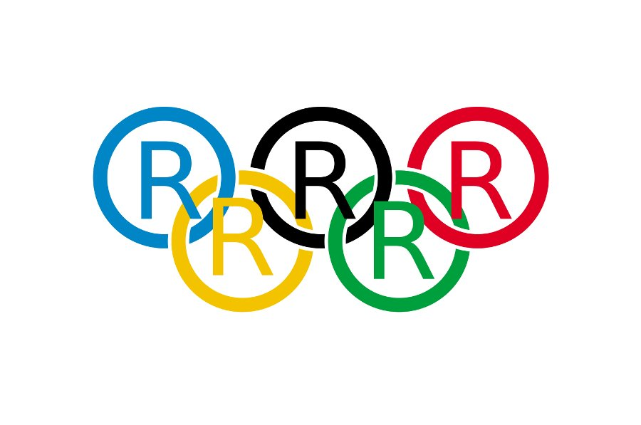 Olympic Flag (R) TM Satire