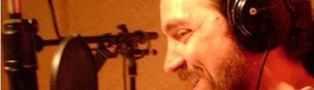voiceover talent yasha harari in a recording session circa 2009